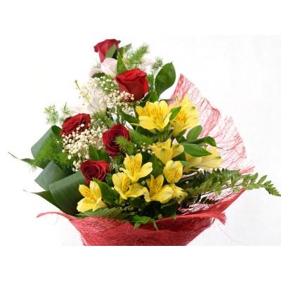 Букет с розами (№7)