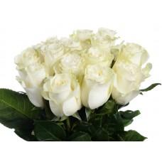Букет белых роз - 15 шт.