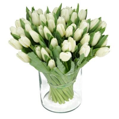Романтический букет 45 тюльпанов